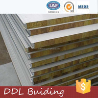 Soundproof PU siding rockwool sandwich wall panels