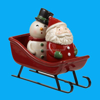 ceramic santa and snowman wholesaler christmas decoration