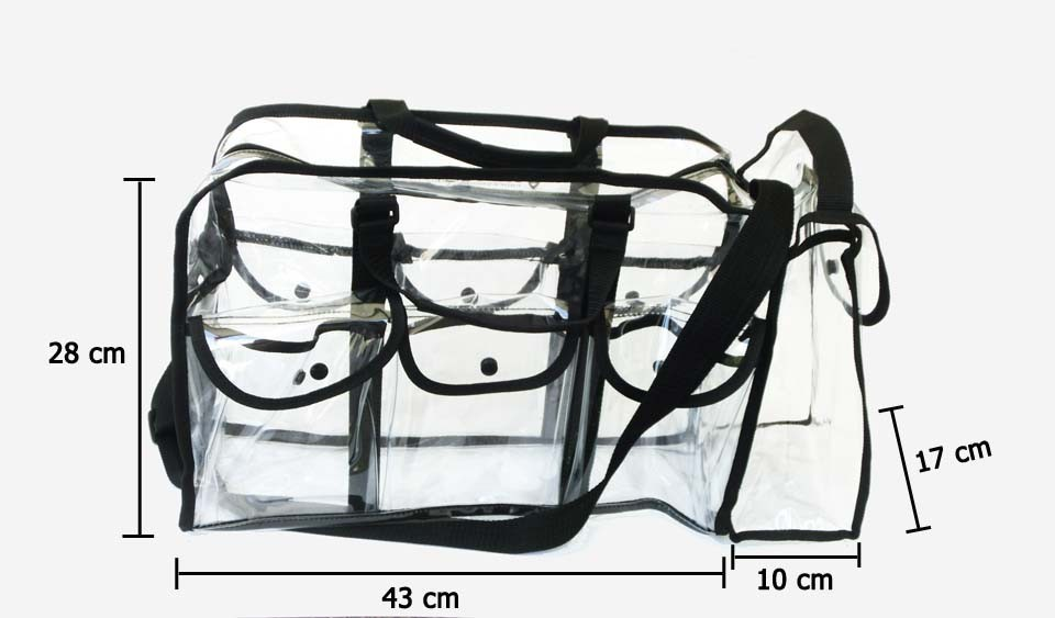 Transparent PVC beauty large clear makeup bag, Large capacity clear PVC cosmetic plastic bag
