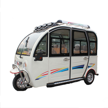 bajbaj ape three wheel electric tricycle motorcycle for passenger with closed cabin
