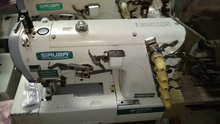 Low price used Japan siruba flat-bed interlock industrial sewing machine