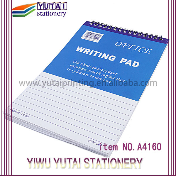 School Office Spiral notebooks,writing pad,writing notepad