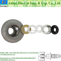 Conveyor Idler Bearing Pedestal Shell Including Labyrinth Seal