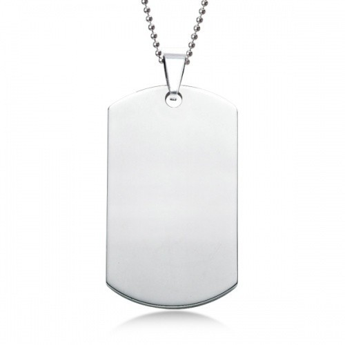 Cheap Fashion Polished Stainless Steel Dog Tags