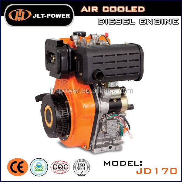 Air cooled OHV Single cylinder 4 stroke crankshaft portable small 10hp diesel engine for boat
