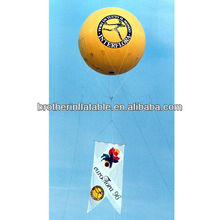 Grand with flag inflatable sky advertising balloon factory