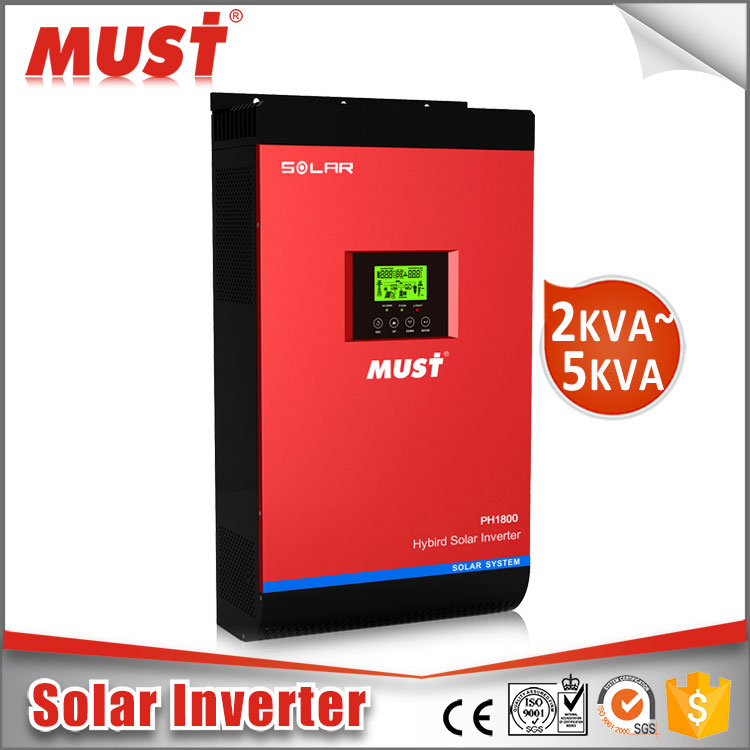 MUST pure sine wave transformerless phases on off grid string Solar Inverter for solar panel Photovoltaic Inverter
