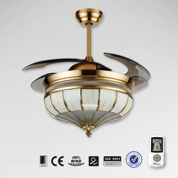 Hidden Ceiling Fan : Noble decorative retractable lighting ceiling fan with