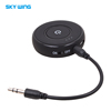 Wireless Aux Jack Audio Bluetooth Receiver 3.5mm Audio Port Car Kit HD Stereo Hifi Music Sound with Mic for Call Communication