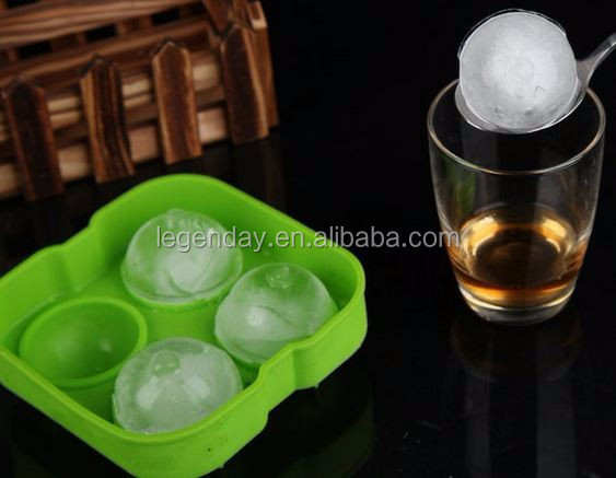 4 cups Silicone ice cube tray ice ball maker