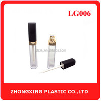 Private Label Screen Printing Flat Square Shaped Lip Gloss Bottle