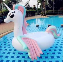 GIANT Inflatable Unicorn Shaped Floating Mat Toy Swimming Pool Beach Air Bed Floating Mat
