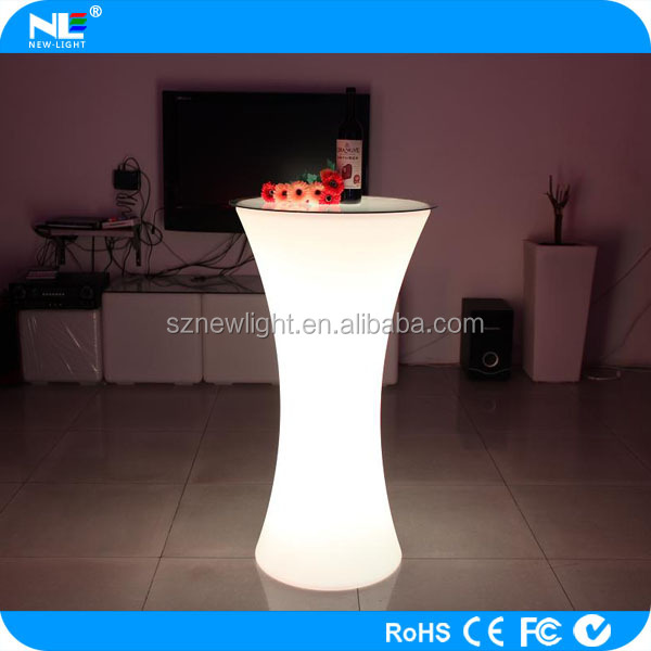 LED Table top sale / modern bar table furniture / glowing bar furniture