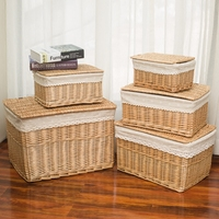 Fashion Enco Friendly Wooden Wicker Basket