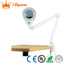 8066D2-4C Table clamp Magnifying LED Lamp