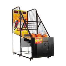electronic coin-operated basketball machine shooting machine folding basketball machine indoor dual shot basketball arcade <strong>game</strong>