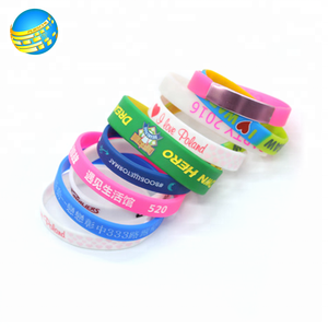 Customized various cartoon figure print rubber silicone wristbands