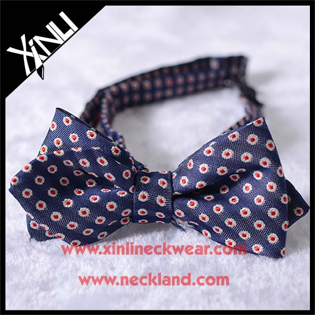 High Quality Custom Woven Cheap Patterned Kid Bowtie