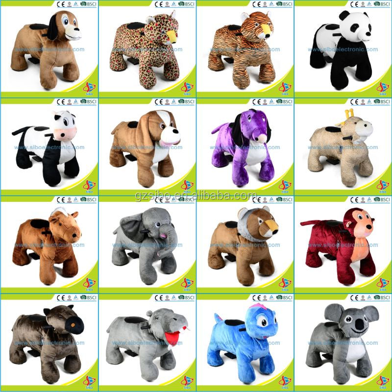 GM59 Top quality products electric dog plush farm animal ride sale