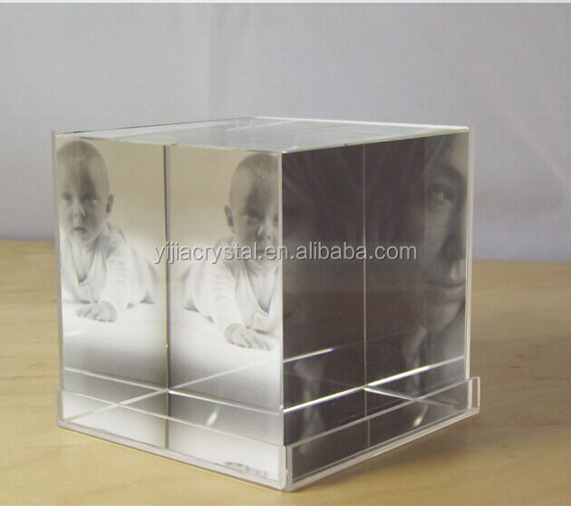 Wholesale crystal glass cube blank crystal block for photo for Wholesale glass blocks for crafts