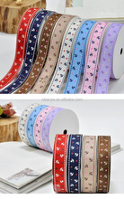 25mm Cute bow and arro Design Factory Wholesale 100% Polyester Printed Grosgrain Ribbon For Packaging,Headwear,Garment Accessory