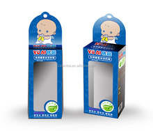 Lovely Packaging Baby Feeding Bottle Soft Paper Box with Hanger and Clear Window