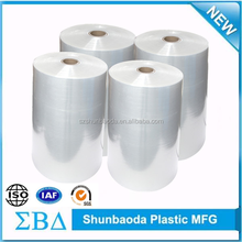 China supplier clear pallet stretch wrap film 7micron 50Kg jumbo roll