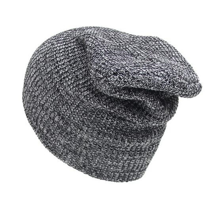 Winter Hat Men Knitted Beanies Warm Bonnet Caps Baggy Brand Solid Wool Winter Hats