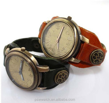 Classical bronze case new arrival fashion strap stainless steel case back japan movt quartz watch