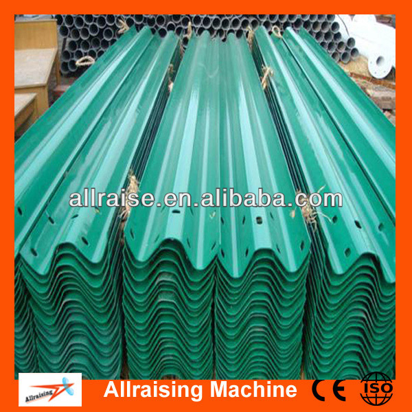 Three Waves Galvanized Steel Highway Guardrail
