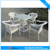 K Outdoor garden furniture Rattan table and chair(CF715T+CF715C)