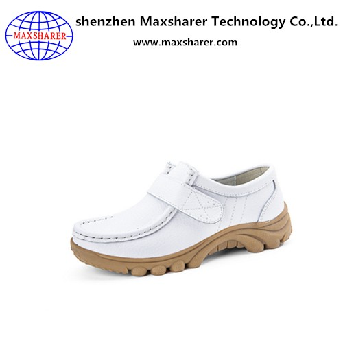Unique wholesale products genuine leather women flat nursing shoes