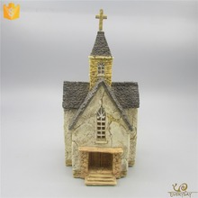 Wholesale Custom Anniversary Memento Gift Ideas Resin Miniature Holy Church Model Anniversary Souvenir Gift