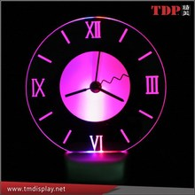 Manufacturer Round LED Clock, Acrylic LED Wall Clock for Bar