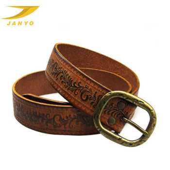 Bulk embossed classical genuine leather belts for men