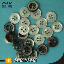 DIAN 18L Black & White custom mother of pearl button shirts