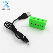 For rc helicopter car toy battery usb charging cable charger balancing battery charger 3.7v 6-in-1
