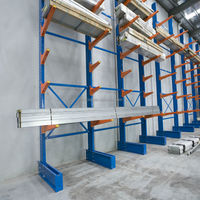 Economical storage long pipe and irregular items cantilever racking