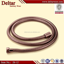 golden shower set flexible stainless steel shower hose, 8 inch length cheap price high temperature flexible shower hose
