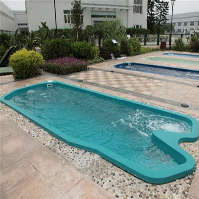 Swimming pool designs factory outdoor fiberglasss Endless swimming pool with spa underlwater light