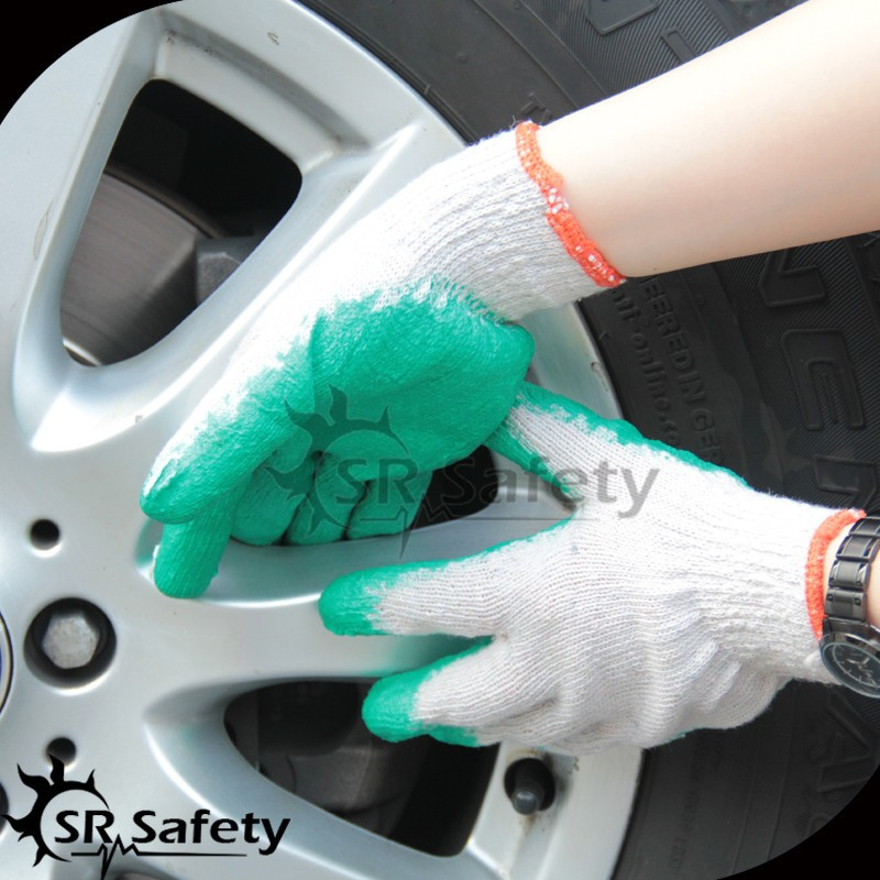 SRSAFETY wholesale cheap latex coated automotive factory work glove