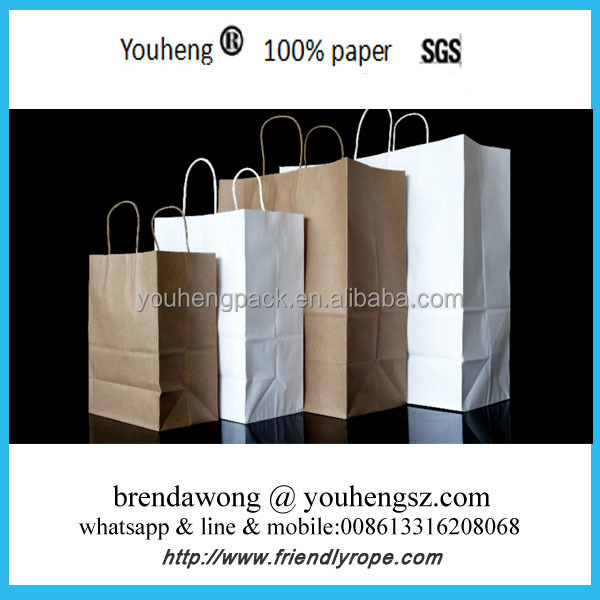 Cheap Kraft Paper Bag with Handle/Brown Paper Bag/Paper Bag Design