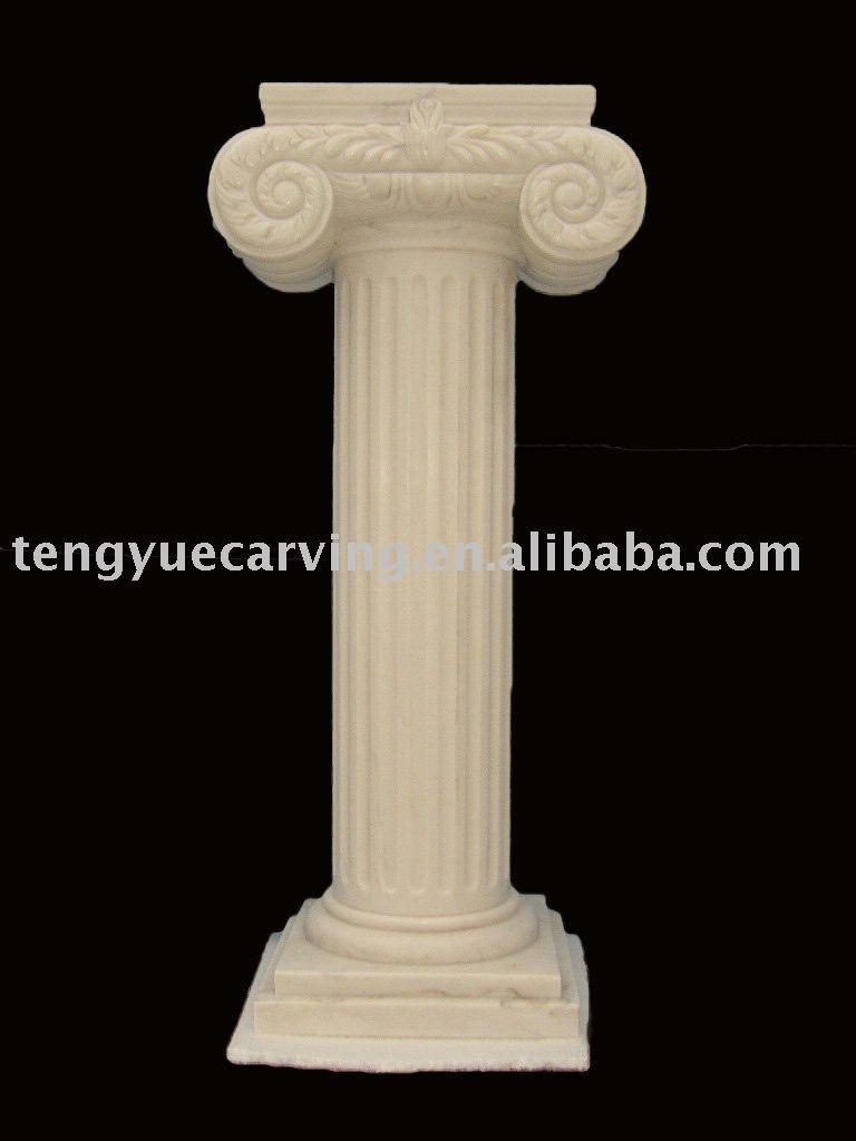 Romano columna marmol pilares identificaci n del producto for Marmol travertino romano precio