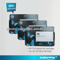 Original HP 70 Ink Cartridge (genuine from Singapore, for wide format printer HP Z2100/Z3100/5200, Canon Ink, cartucho de tinta)
