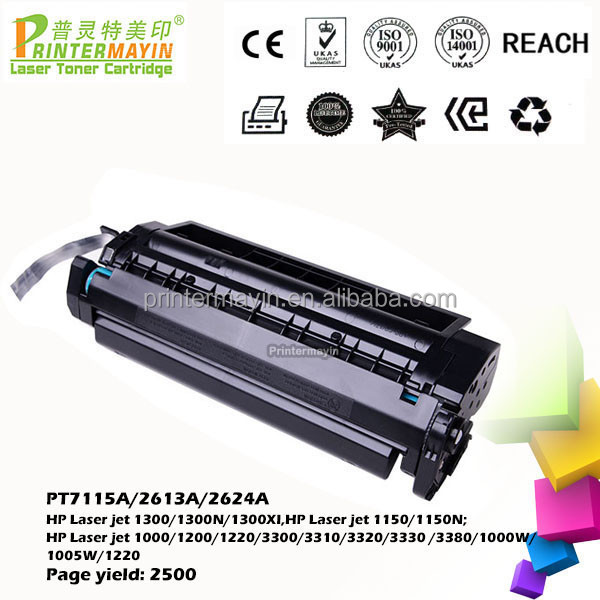 Laser Q2613A C7115A Toner Cartridge FOR USE IN HP Laser jet 1300/1300N/1300XI (PT7115A/2613A/2624A)