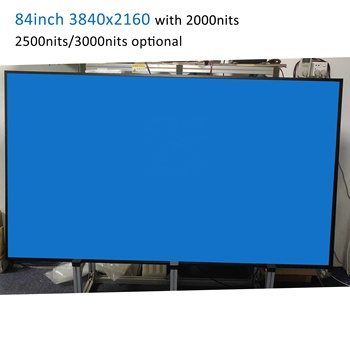 "84""  3840*2160 IPS LCD panel 2000 nits high brightness outdoor sun-light readable display for digital signage with light sensor"