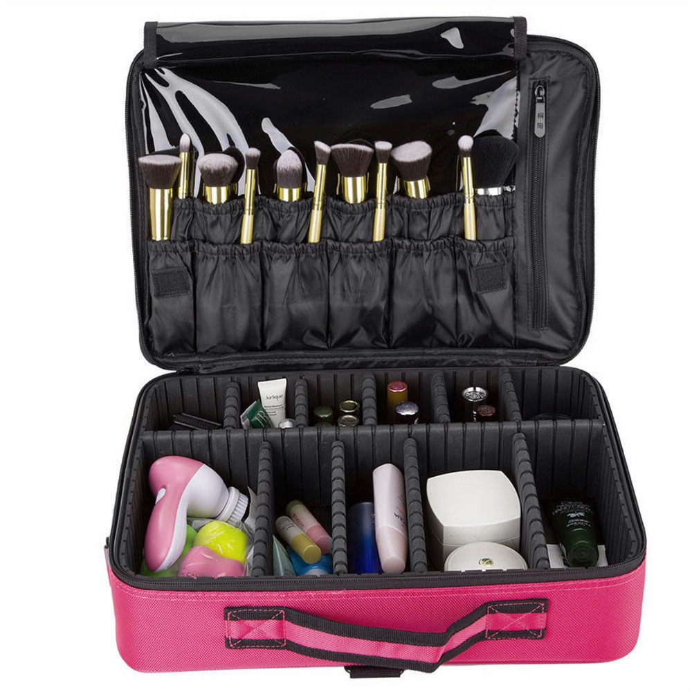 Large Capacity Makeup Brush Bag Case Cosmetic Pouch Storage Handle Organizer