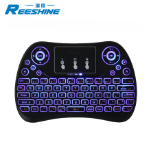 2018 New arrival gaming keyboard smart t2c wireless mouse keyboard RGB colour for smart tv