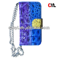 Hand bag case for iphone 4/ Leather flip case for iphone 4s/ Crocodile phone cover for iphone
