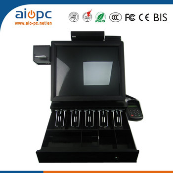 AIOPC 15 inch 17 inch all in one touch screen pos terminal